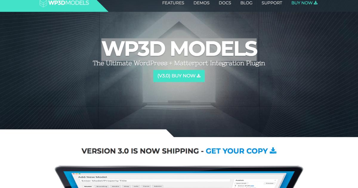 WP3D Models Matterport 3D WordPress Plugin